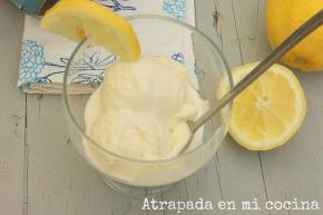 Helado de limoncello
